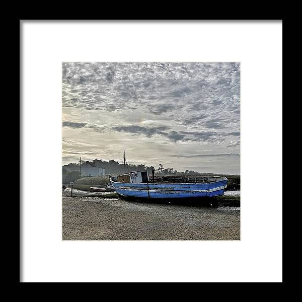 Beautiful Framed Print featuring the photograph The Fixer-upper, Brancaster Staithe by John Edwards
