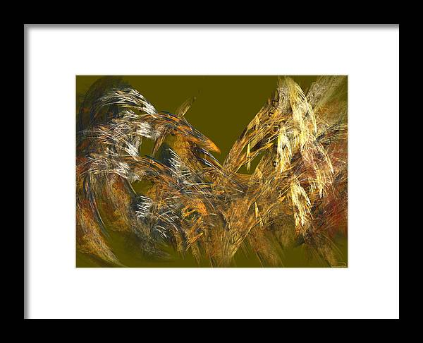 Abstract Framed Print featuring the painting The Flight Of The Bird by Emma Alvarez