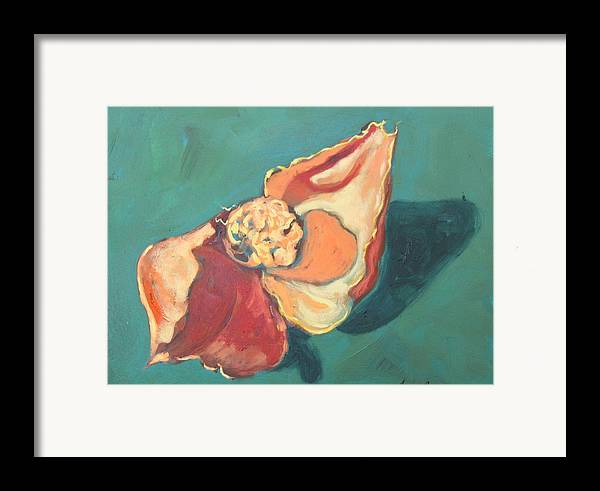 Still Life Framed Print featuring the painting The Floret by Tina Marie Rothwell