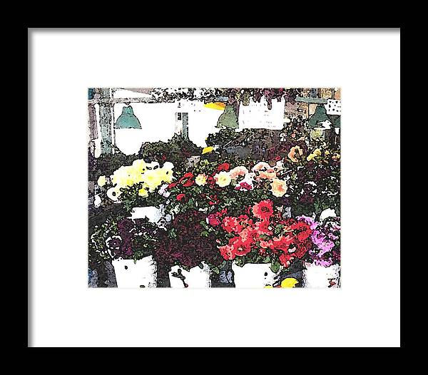 Seattle Framed Print featuring the mixed media The Flower Market by James Johnstone