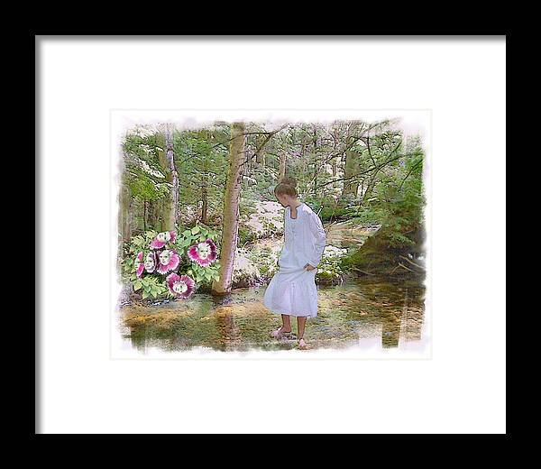 Young Girl Framed Print featuring the photograph The Flowering Brook by Rose Guay