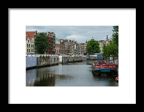 Greenhouse Framed Print featuring the photograph The Flowermarket Canal by Joan Baker
