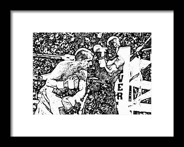 Prize Fighting.boxing Framed Print featuring the photograph The Follow Through by David Lee Thompson