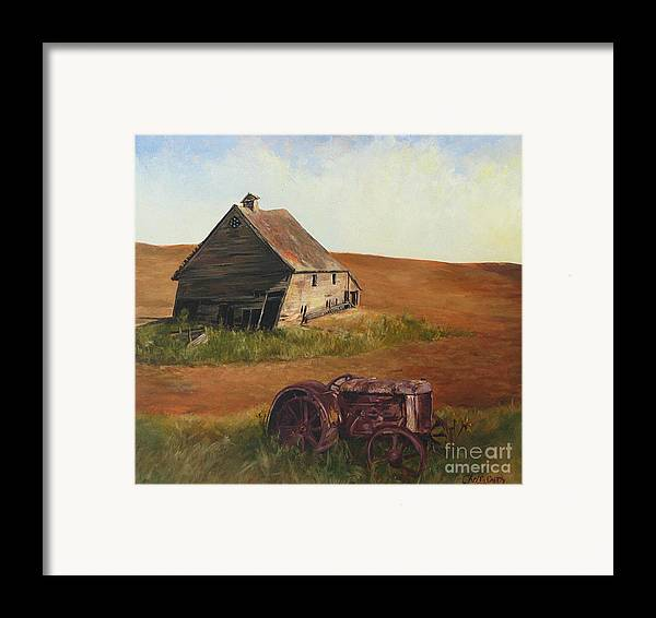 Oil Paintings Framed Print featuring the painting The Forgotten Farm by Chris Neil Smith