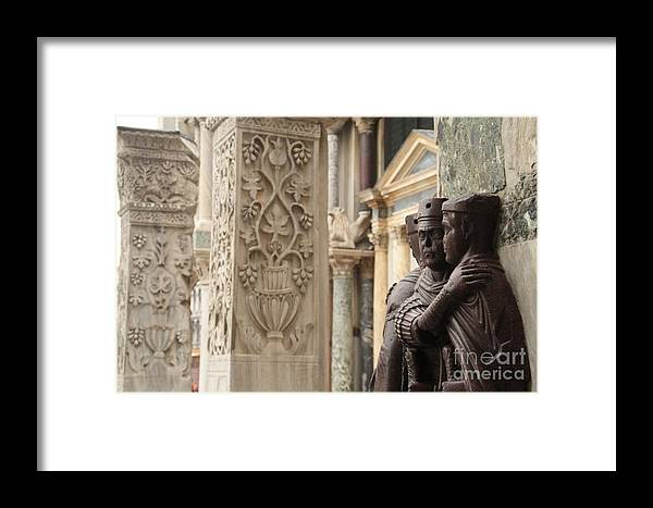 Venice Framed Print featuring the photograph The Four Tetrarchs In Venice by Michael Henderson
