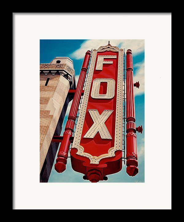 Cityscape Framed Print featuring the painting The Fox Theater by Van Cordle