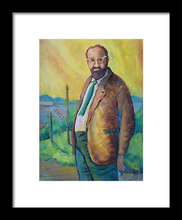 Portrait Framed Print featuring the painting The French Beekeeper by Ruth Mabee