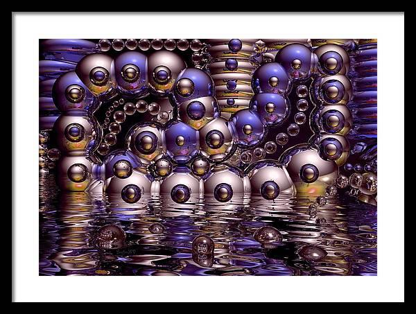 Bubble Framed Print featuring the digital art The Fun Factory by Robert Orinski