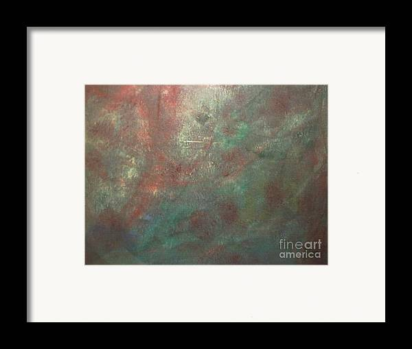 Abstract Framed Print featuring the painting The Gain by Guillermo Mason