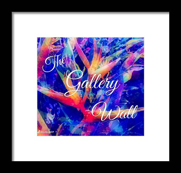 Logo The Gallery Wall Framed Print featuring the digital art The Gallery Wall by Aline Halle-Gilbert