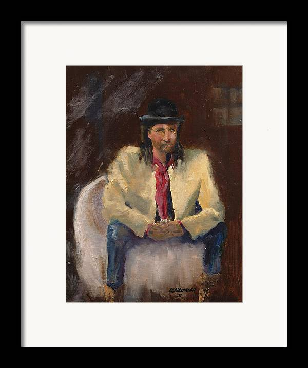 Figurative Framed Print featuring the painting The Gambler by Bryan Alexander