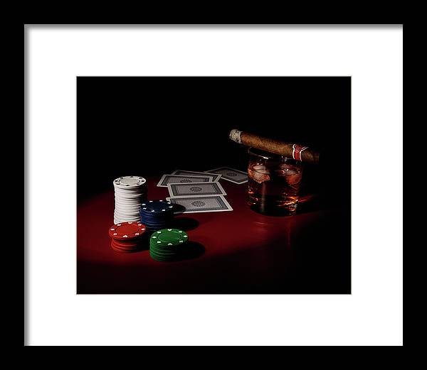 Cards Framed Print featuring the photograph The Gambler by Tom Mc Nemar