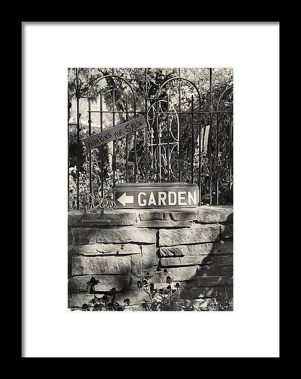 Garden Framed Print featuring the photograph The Garden Gate by Jim Furrer