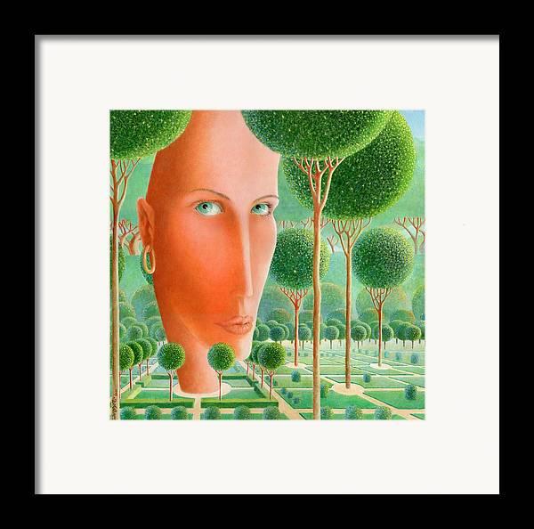 Giuseppe Mariotti Framed Print featuring the painting The Garden by Giuseppe Mariotti