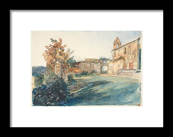 John Ruskin Framed Print featuring the painting The Garden Of San Miniato Near Florence by John Ruskin