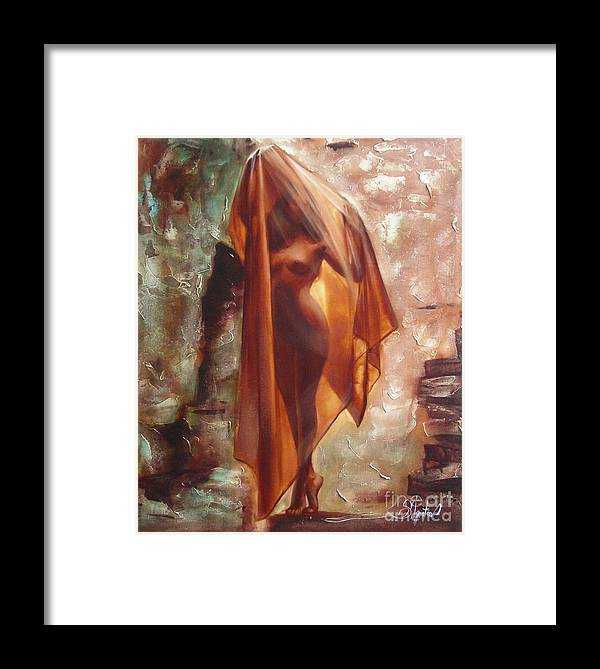 Ignatenko Framed Print featuring the painting The Garden Of Stones by Sergey Ignatenko