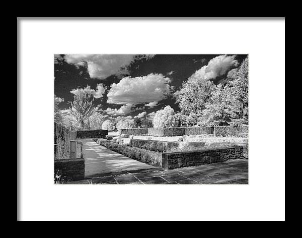 Infrared Framed Print featuring the photograph The Gardens In Ir by Michael McGowan