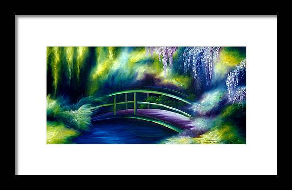 Sunrise Framed Print featuring the painting The Gardens of Givernia by James Christopher Hill