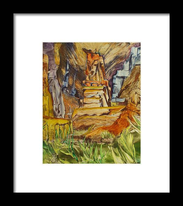 Wax Framed Print featuring the painting The Gate by Ibrahim Rahma