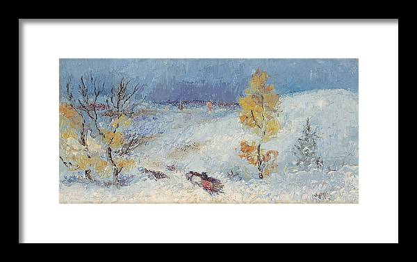 Landscape Framed Print featuring the painting The Gatherer by Willoughby Senior