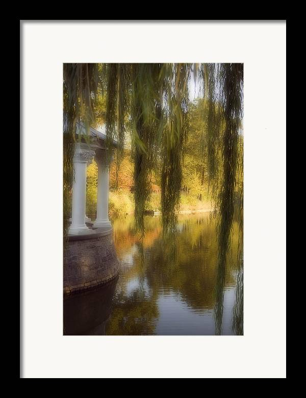 Water Framed Print featuring the photograph The Gazebo by Ayesha Lakes