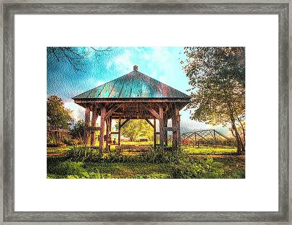 The Gazebo In Watercolors Framed Print By Debra And Dave
