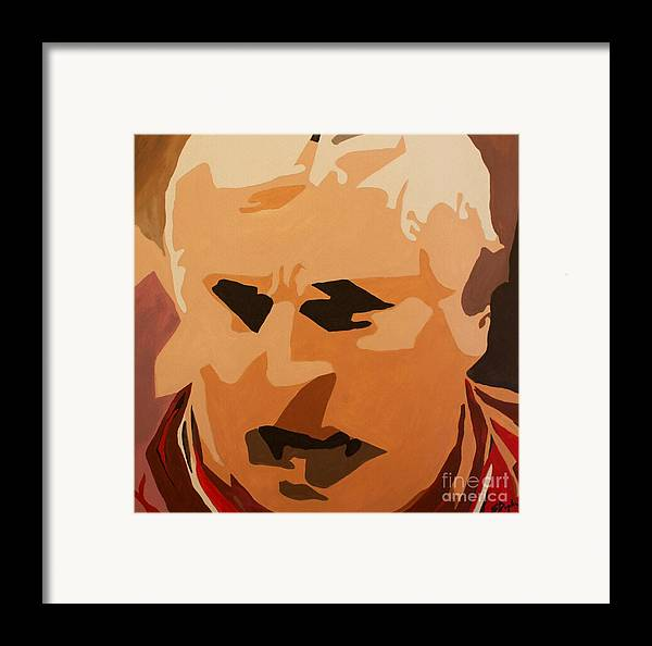 Coach Framed Print featuring the painting The General- Bobby Knight by Steven Dopka