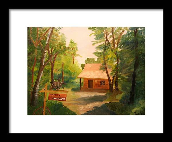 Landscape Framed Print featuring the painting The Getaway by Marilyn Tower