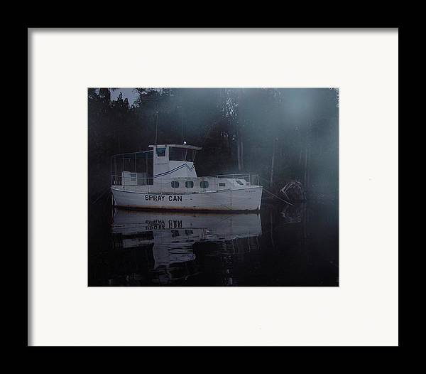 Boat Framed Print featuring the painting The Ghost Ship by Debbie May