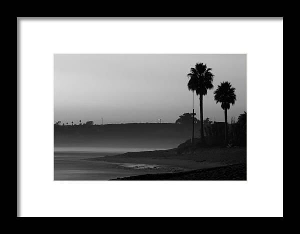 Landscape Framed Print featuring the photograph The Ghost Tide Of San Onofre by Brad Scott