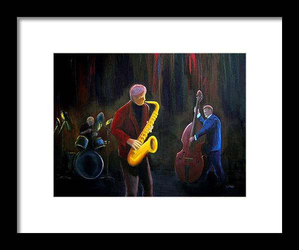 Jazz Framed Print featuring the painting The Gig by Clemens Greis