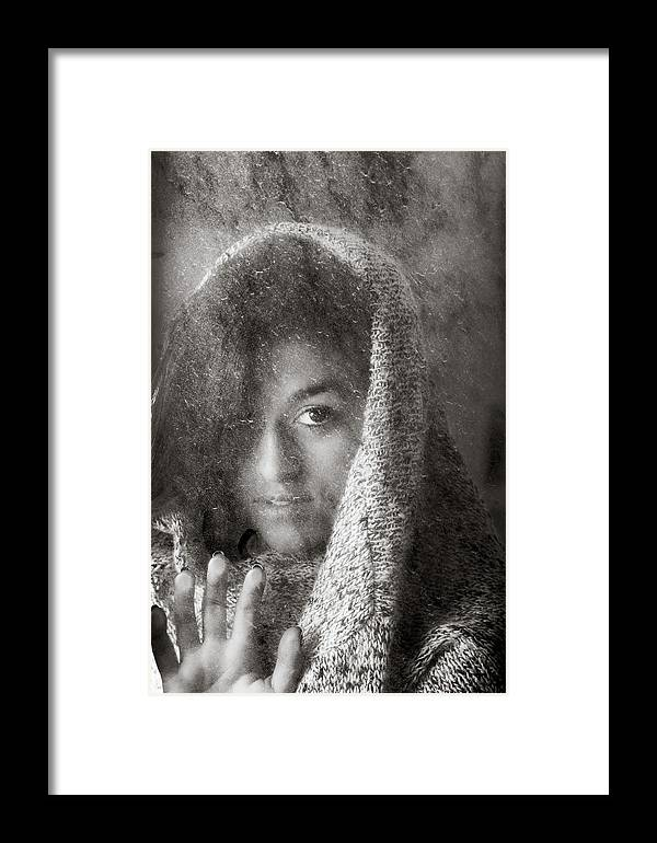 B&w Framed Print featuring the photograph The Girl by Amit Zakay