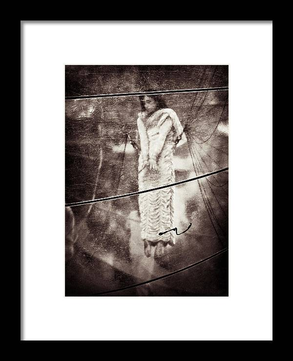 Girl Framed Print featuring the photograph The Girl In The Bubble by Dave Bowman