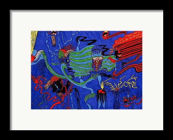 Abstract Framed Print featuring the print The Gloaming by William Watson