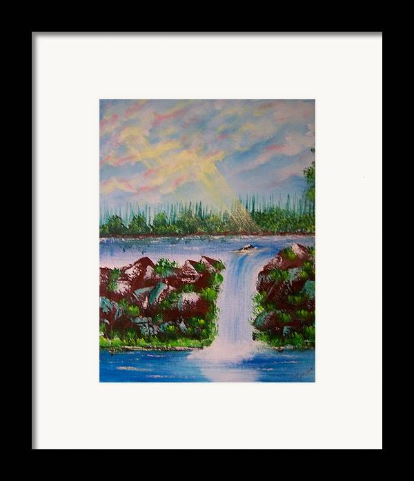 Acrylic Framed Print featuring the painting The Glory Of The Lord by Laurie Kidd