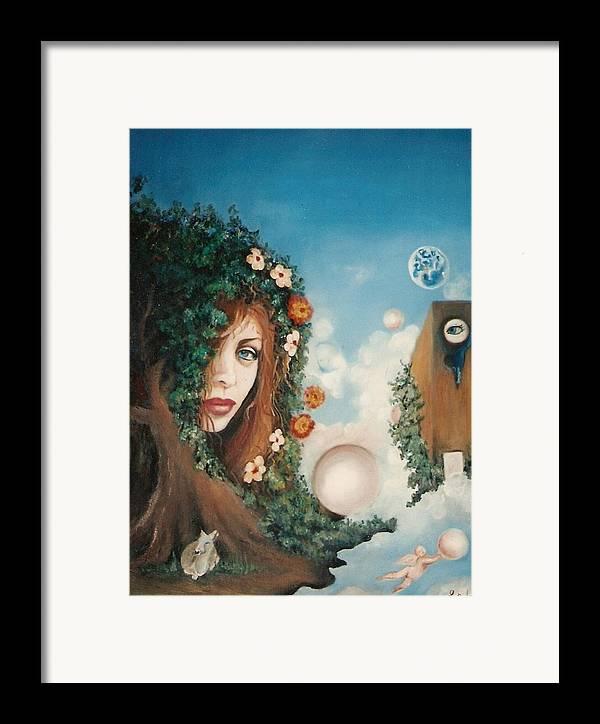 Goddess Paintings Framed Print featuring the painting The Goddess by Jordana Sands