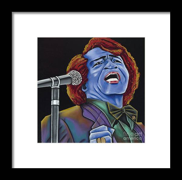 Blue Painting Framed Print featuring the painting The Godfather by Nannette Harris