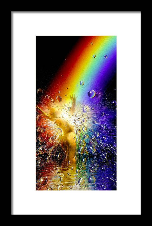 Framed Print featuring the painting The Gold At The End Of The Rainbow by Robby Donaghey