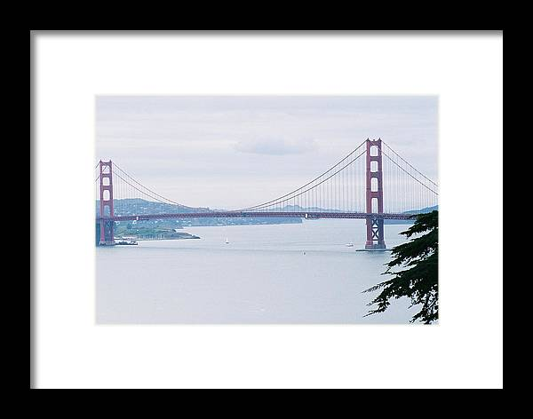 Landscape Framed Print featuring the photograph The Golden Gate by Edward Wolverton