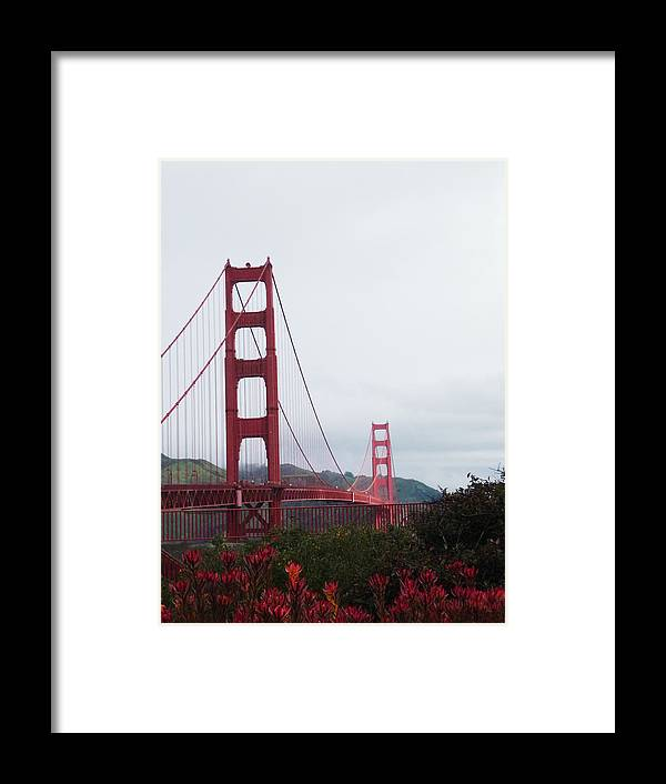 Bridge Framed Print featuring the photograph The Golden Gate by Jenny May