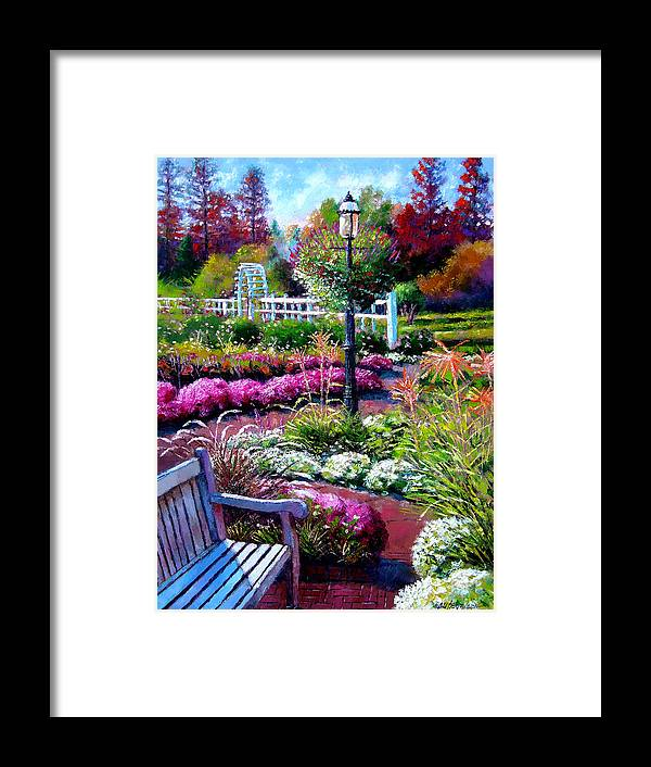 Garden Path Framed Print featuring the painting The Golden Season by John Lautermilch