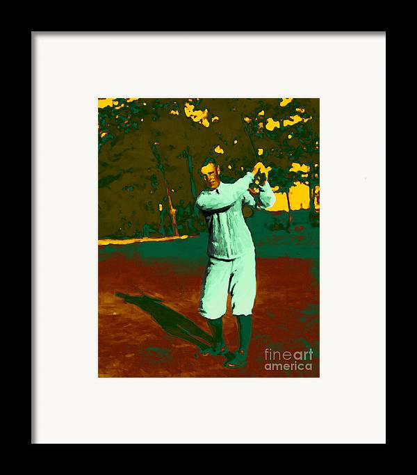 Sport Framed Print featuring the photograph The Golfer - 20130208 by Wingsdomain Art and Photography
