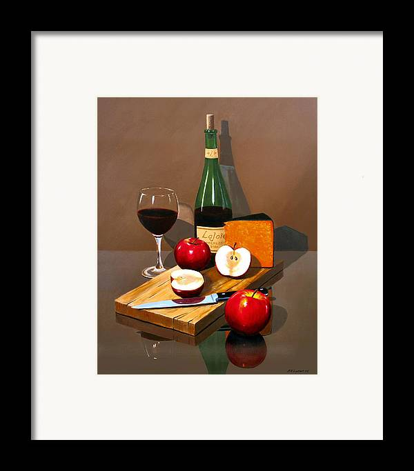 Still Life Framed Print featuring the painting The Good Life by Brooke Lyman
