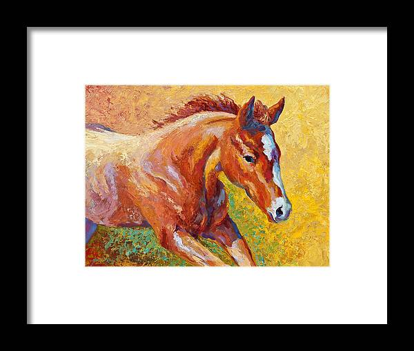 Horses Framed Print featuring the painting The Good Life by Marion Rose
