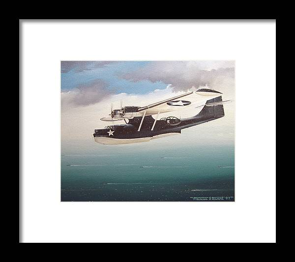 Painting Framed Print featuring the painting The Good Shepherd by Marc Stewart