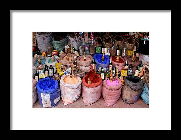 Chaouen Framed Print featuring the photograph The Goods by Jason Hochman