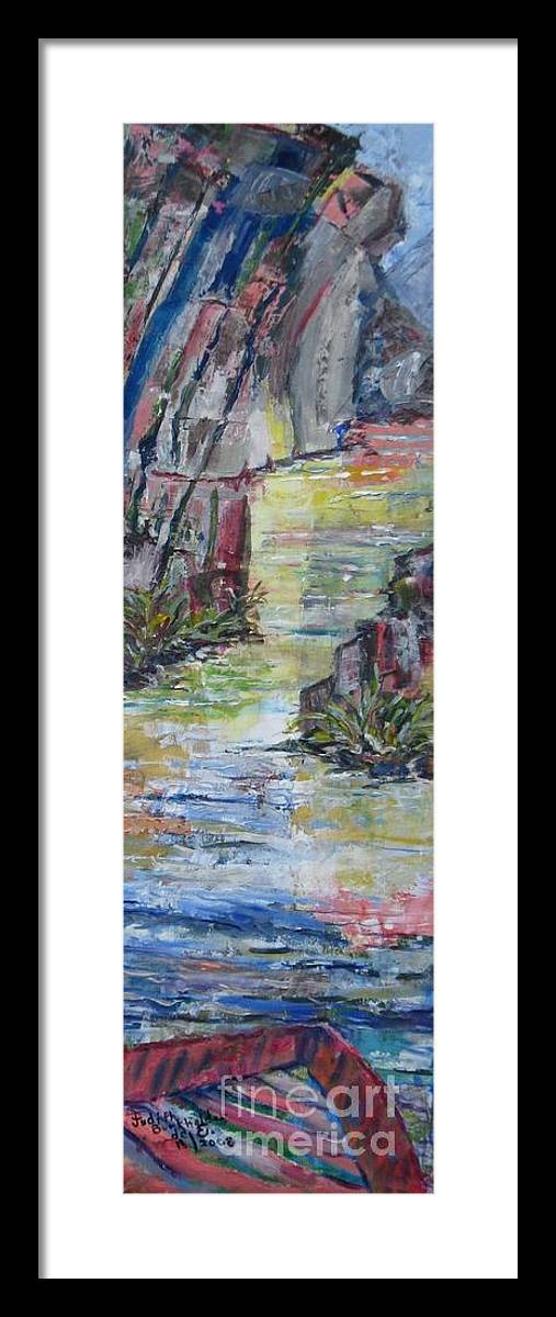 River Framed Print featuring the painting The Gorge by Judith Espinoza