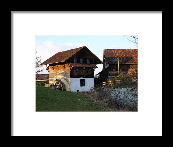 Landcpe Framed Print featuring the photograph The Grainery by Chuck Shafer