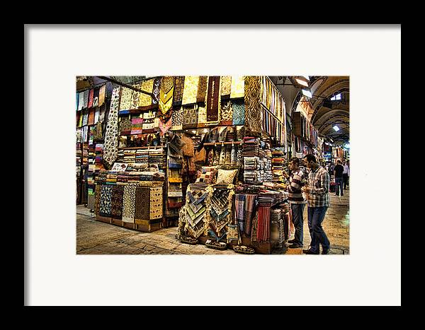 Turkey Framed Print featuring the photograph The Grand Bazaar In Istanbul Turkey by David Smith