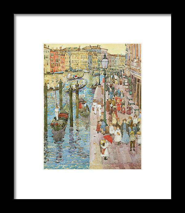 Maurice Prendergast Framed Print featuring the painting The Grand Canal Venice by Maurice Prendergast